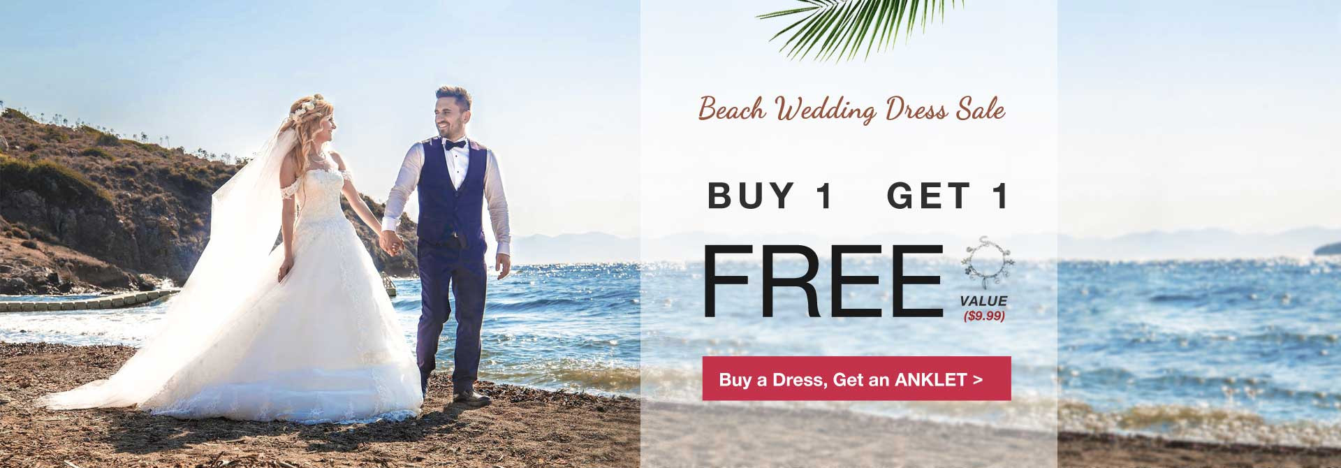 Buy a beach wedding get an anklet for free