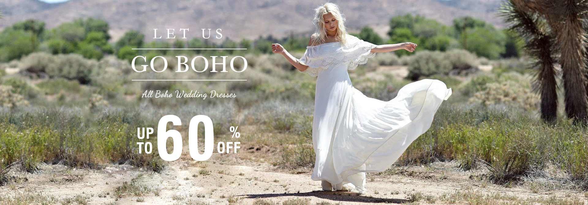 Boho Wedding Dresses up to 60% Off
