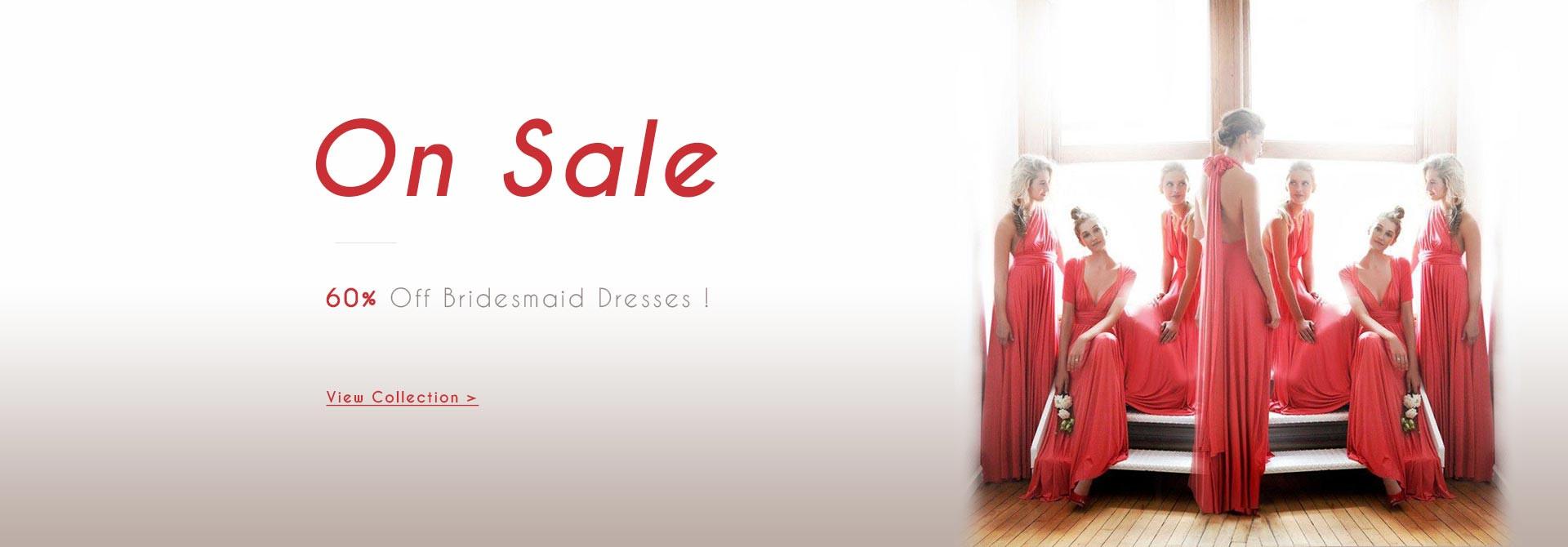 60% Off Bridesmaid Dresses