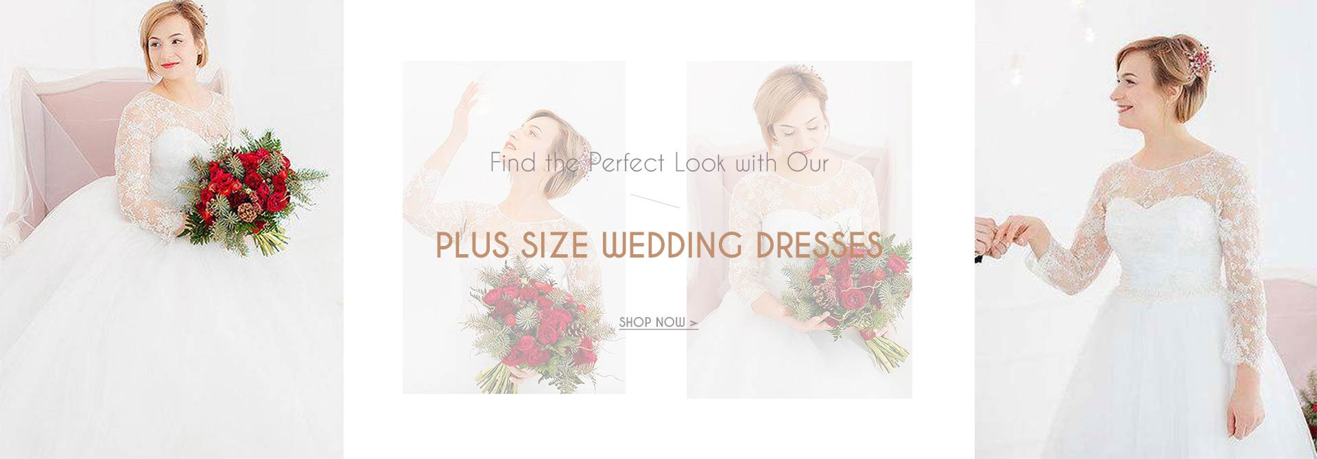 Find the perfect look with our plus size wedding dresses